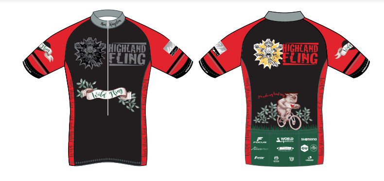 The Highland Fling 2016 edition jersey.