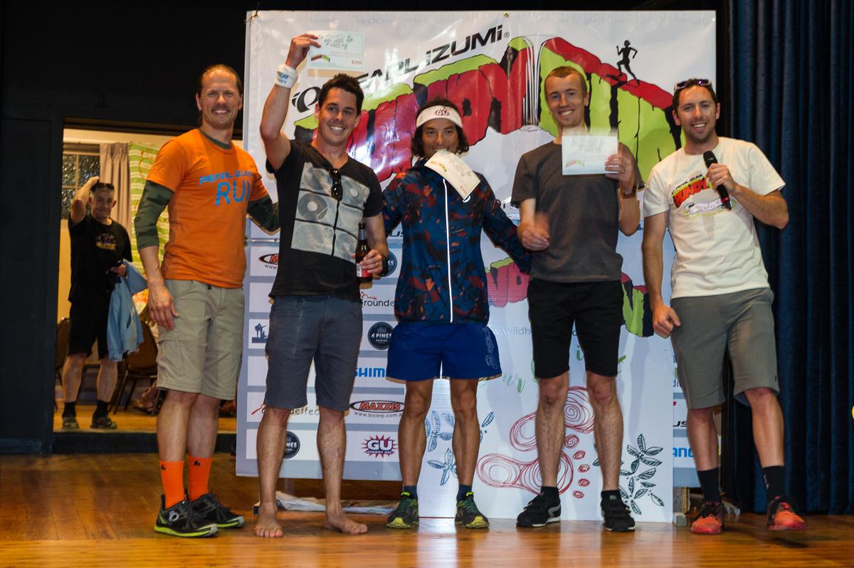 Pearl iZUMi Bundy Run Half Marathon Men's Podium